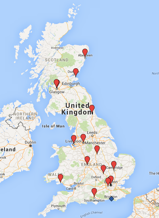 UK experimental cold-atom research groups